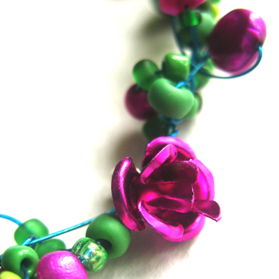 Pea Green and Pink